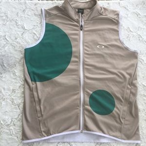 Oakley Golf Vest 2xl Tan Green Performance Fit